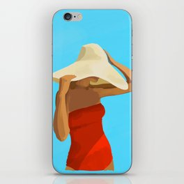 At The Beach: Red Suit iPhone Skin