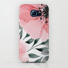 Big Watercolor Flowers Slim Case Galaxy S8