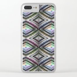 Bright symmetrical rhombus pattern Clear iPhone Case