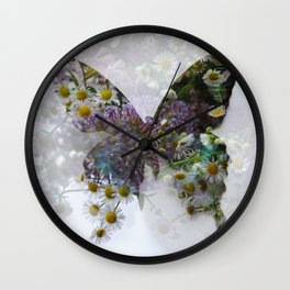Beautiful floral butterfly Wall Clock
