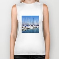 marina Biker Tanks featuring Marina Forest by Ken Seligson