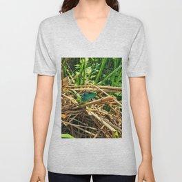 curious lizard Unisex V-Neck