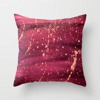 splatter Throw Pillows featuring Splatter by TA TAN