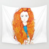 brave Wall Tapestries featuring Brave by FeliciaR