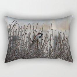 Chickadee in a Bush Rectangular Pillow