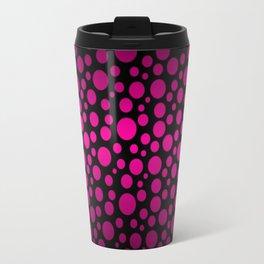 Black to Pink Gradient Colored Circles Travel Mug