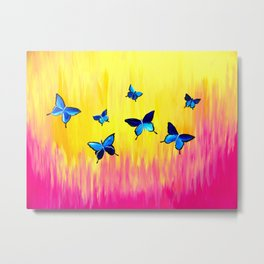 Butterflies and Vivid Sundrenched Colors Metal Print