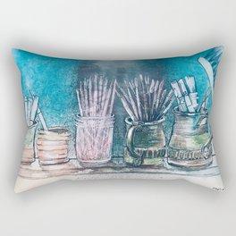 The Artist's Shelf Rectangular Pillow