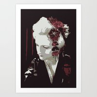 the fair-haired geisha Art Print