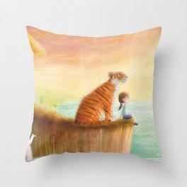 Pet Tiger by P.S. Brooks Throw Pillow