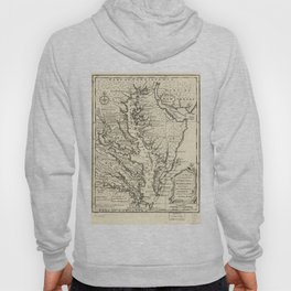 Vintage Map of The Chesapeake Bay (1752) Hoody