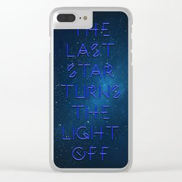 The last Star Clear iPhone Case