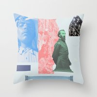 allyson johnson Throw Pillows featuring Magic Johnson by Young Weirdos Guild