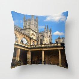 The Roman Baths, Bath. Throw Pillow