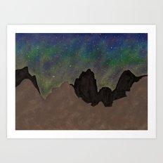Night Mountains Art Print