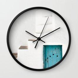 Minimalist Greek Architecture, Sifnos island Wall Clock