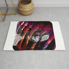 Trapped in turmoil of thoughts Rug