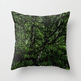 Green Season Throw Pillow