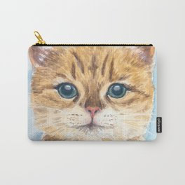 Yellow tabby cat Carry-All Pouch