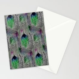Plume de Paon, Silver, Emerald and Blue Stationery Cards