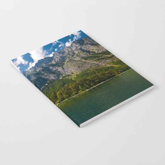 Germany, St. Bartholomew's Church, Alps Mountains, Koenigssee Lake Notebook