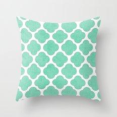 mint clover Throw Pillow