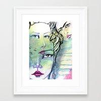 jane davenport Framed Art Prints featuring Fridalicious by Jane Davenport by Jane Davenport