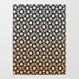 Black Lace Peachy Color Poster