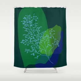 watercolor stems Shower Curtain