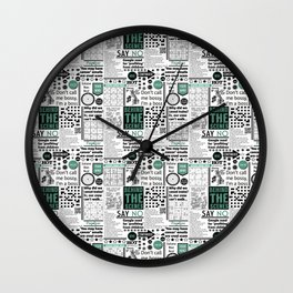 In the News Wall Clock