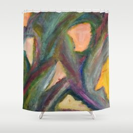 A Family of Masks. Shower Curtain
