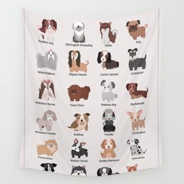 Dog Breeds Wall Tapestry