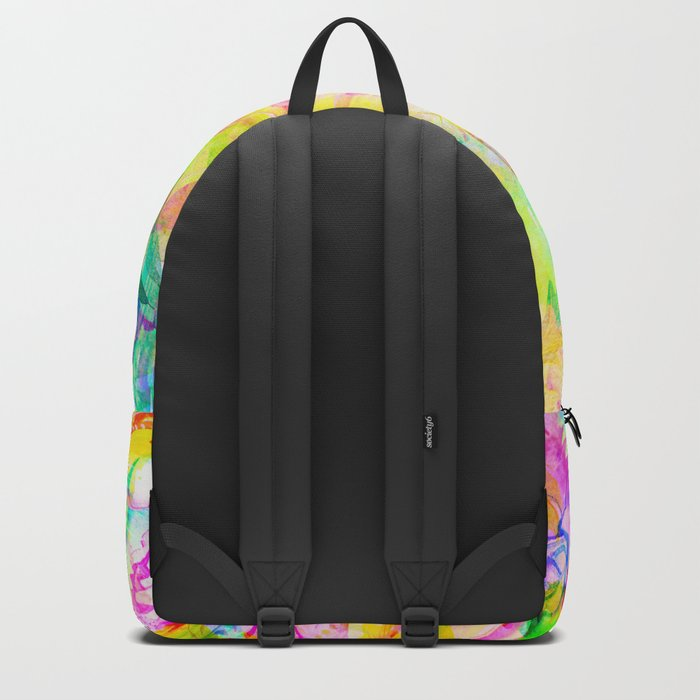 flowers pink yellow Backpack