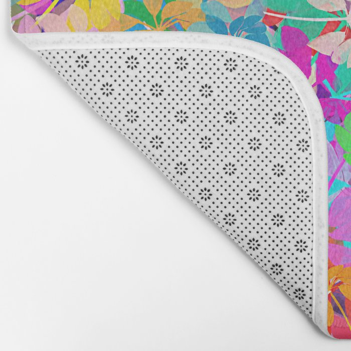 Floral abstract(47). Bath Mat