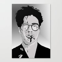 robert downey jr Canvas Prints featuring Robert Downey Jr by Hayley Williams