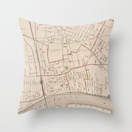 Vintage Map of Springfield MA (1891) Throw Pillow