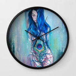 Peafowl Flow Wall Clock