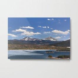Dillon Reservoir is Thawing Metal Print