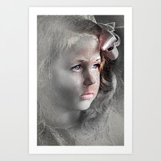 Girl with Bow Art Print