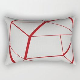 RED GEOMETRIC Rectangular Pillow