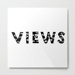 OVO Views Black Metal Print