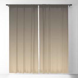 Brown and Tan Gradient Ombre Fade Blend 2021 Color of the Year Urbane Bronze and Ivoire Blackout Curtain