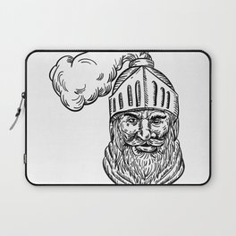 Old Knight Head Drawing Laptop Sleeve