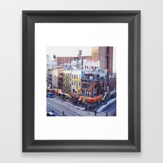 A Corner in Chinatown Framed Art Print