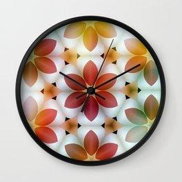 Polarized Flower Geometrics Wall Clock