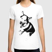 husky T-shirts featuring Husky Husky by ARTNOIS Magazine