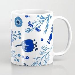 Blue China Flowers Coffee Mug