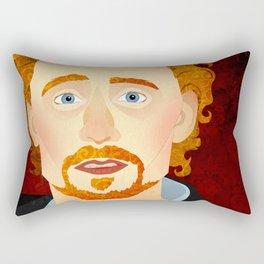 Portrait: Tom Hiddleston Rectangular Pillow