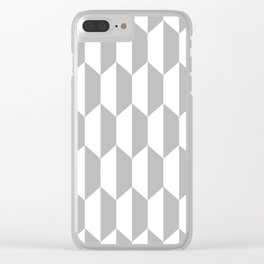 Classic Trapezoid Pattern 225 Gray Clear iPhone Case