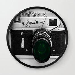 VINTAGE CAMERA Green Lens Wall Clock
